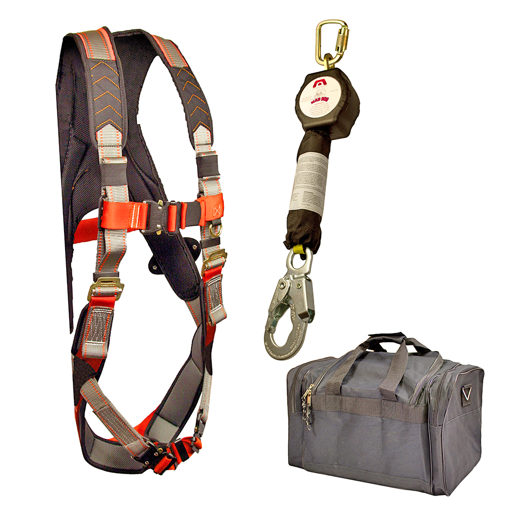Image is loading Madaco-Fall-Protection-Safety-Harness-Shock-Absorbing-6-